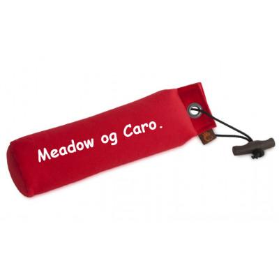 Dummy Standard - 500gr Rød Canvas med tekst